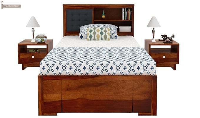 Nova Single Bed With Storage (Honey Finish)-2