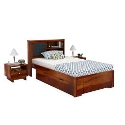 Nova Single Bed With Storage (Honey Finish)