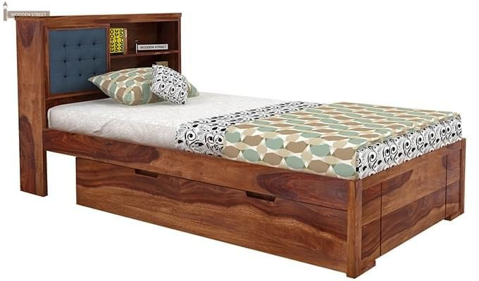 Nova Single Bed With Storage (Teak Finish)-4