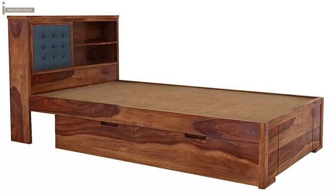Nova Single Bed With Storage (Teak Finish)-5