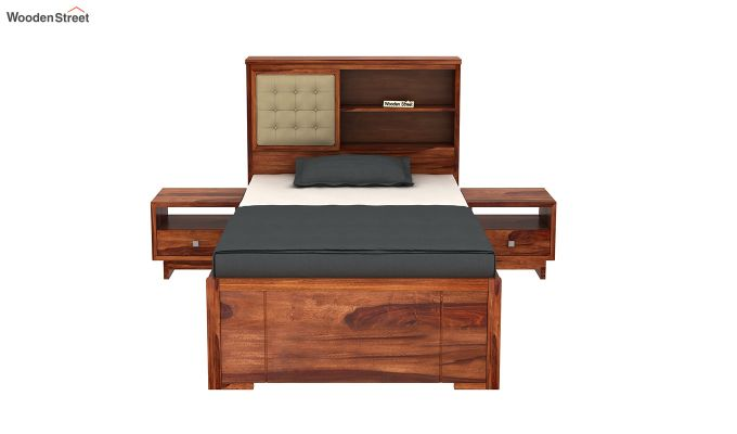 Nova Single Bed With Storage (Honey Finish)-3