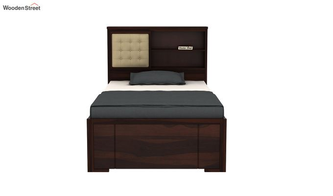Nova Single Bed With Storage (Walnut Finish)-5