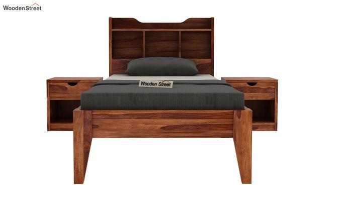 Oretta Single Bed Without Storage (Teak Finish)-3