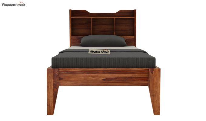 Oretta Single Bed Without Storage (Teak Finish)-5