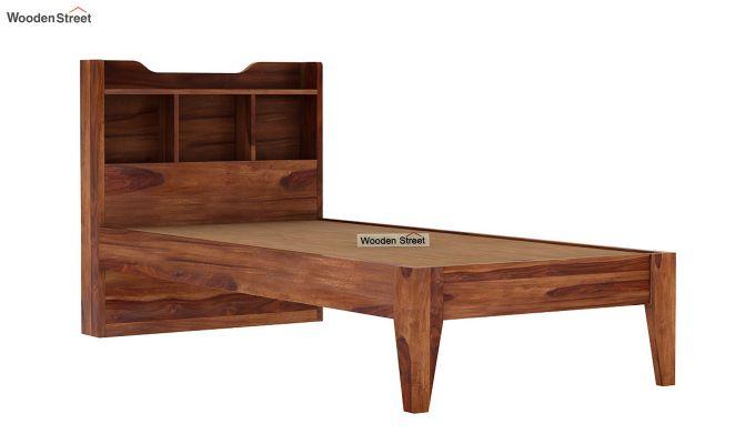 Oretta Single Bed Without Storage (Teak Finish)-6