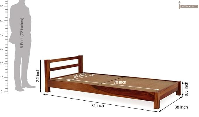 Pavlich Single Bed (Honey Finish)-7