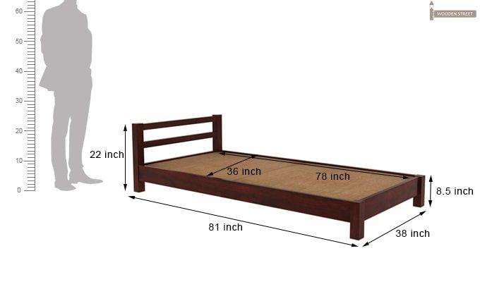 Pavlich Single Bed (Mahogany Finish)-6
