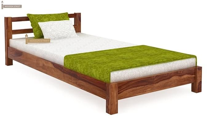 Pavlich Single Bed (Teak Finish)-1