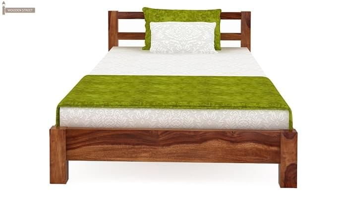 Pavlich Single Bed (Teak Finish)-3
