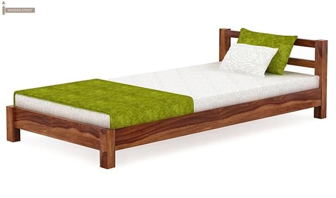 Pavlich Single Bed (Teak Finish)-4
