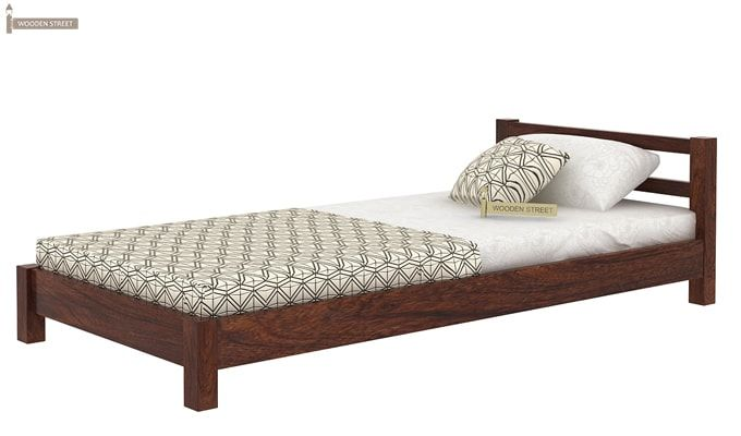 Pavlich Single Bed (Walnut Finish)-5