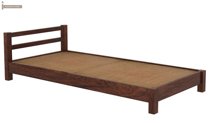 Pavlich Single Bed (Walnut Finish)-6
