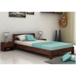 Pavlich Single Bed (Walnut Finish)