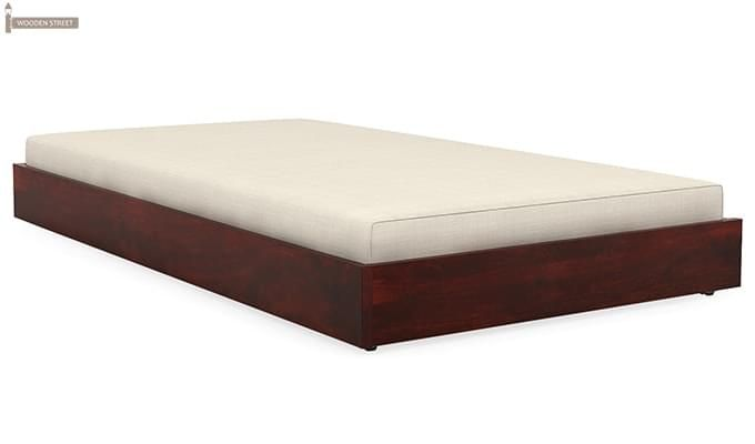 Thienne Single Bed (Mahogany Finish)-2