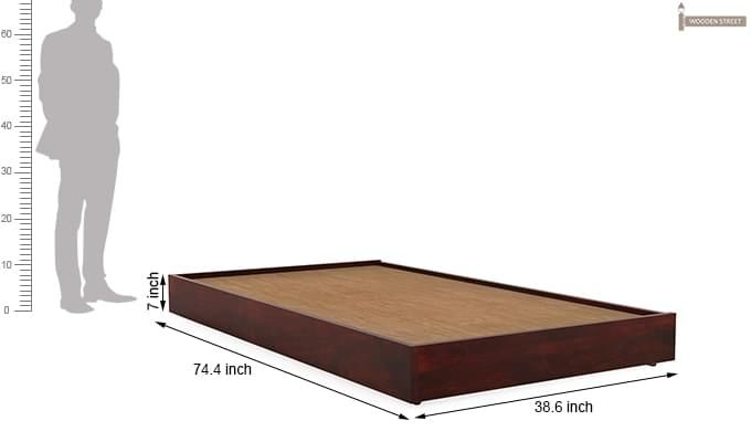 Thienne Single Bed (Mahogany Finish)-5