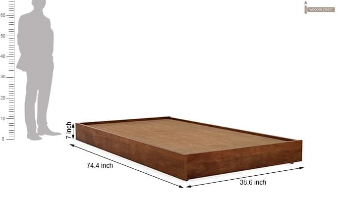 Thienne Single Bed (Teak Finish)-5