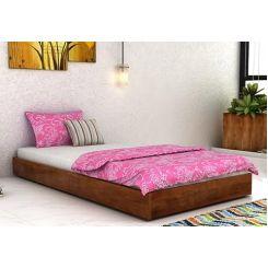 Thienne Single Bed (Teak Finish)
