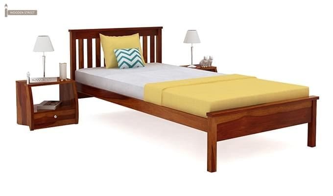 Venus Single Bed (Honey Finish)-2