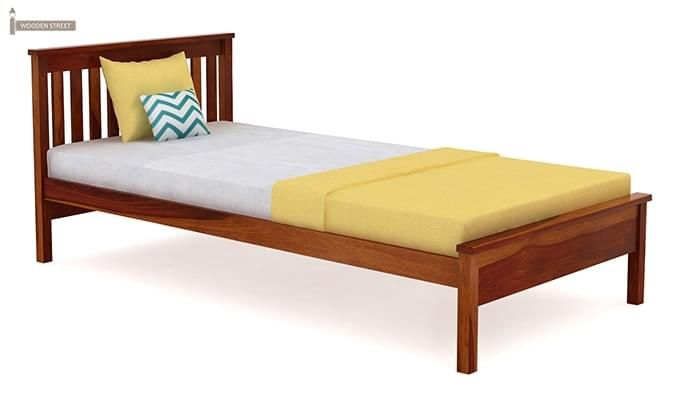 Venus Single Bed (Honey Finish)-3