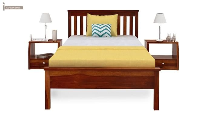 Venus Single Bed (Honey Finish)-4