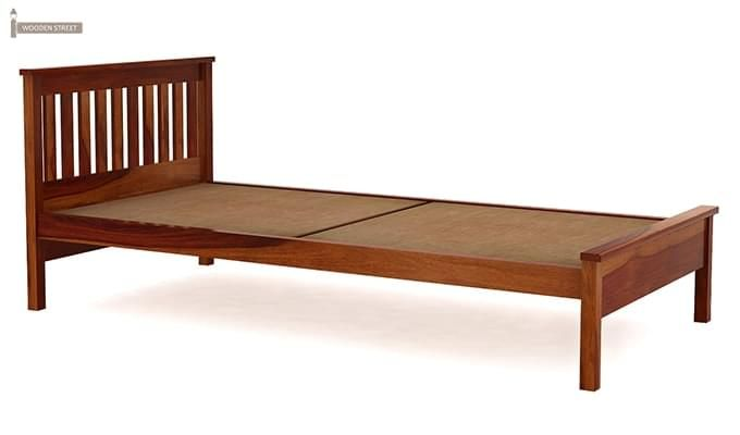 Venus Single Bed (Honey Finish)-5
