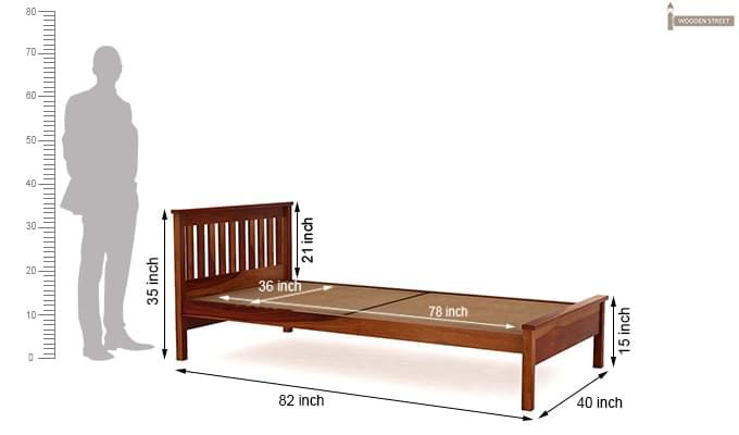 Venus Single Bed (Honey Finish)-7