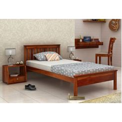Venus Single Bed (Honey Finish)