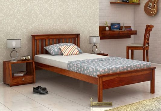 Simple single bed online cheap
