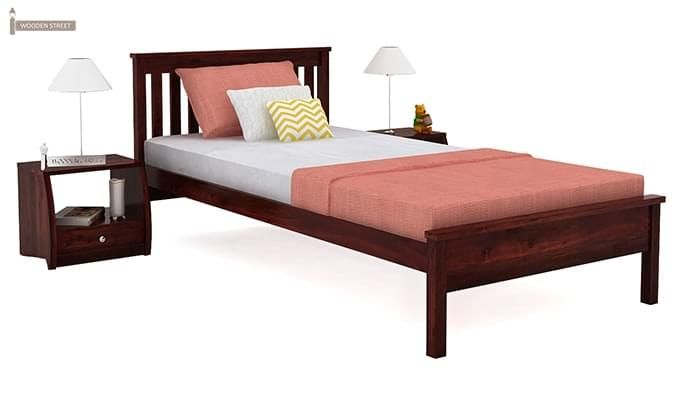 Venus Single Bed (Mahogany Finish)-1