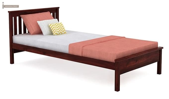 Venus Single Bed (Mahogany Finish)-2