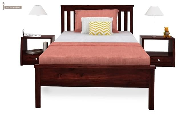 Venus Single Bed (Mahogany Finish)-3