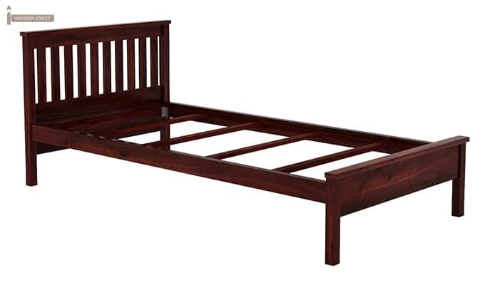 Venus Single Bed (Mahogany Finish)-5