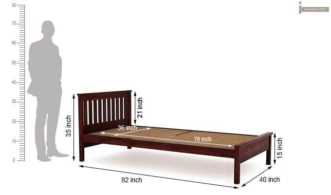 Venus Single Bed (Mahogany Finish)-6