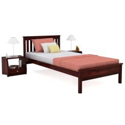 Venus Single Bed (Mahogany Finish)