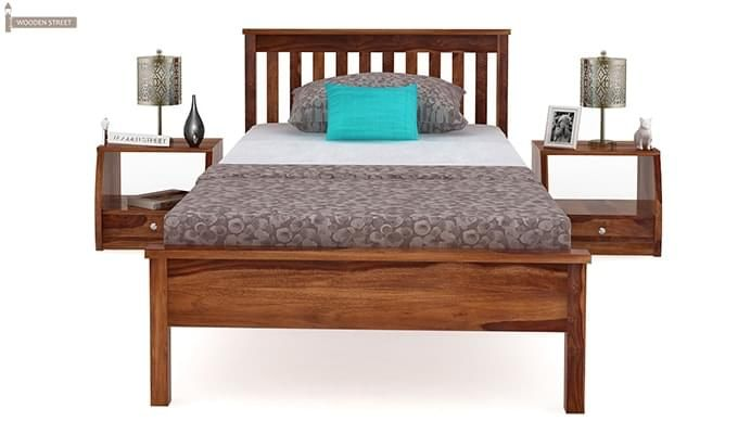 Venus Single Bed (Teak Finish)-3
