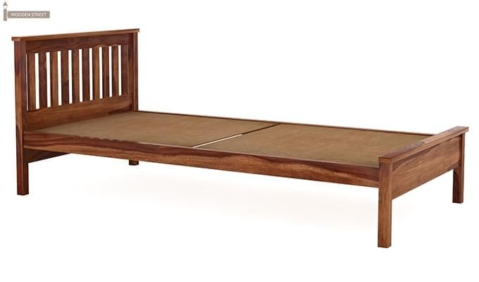 Venus Single Bed (Teak Finish)-4