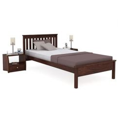 Venus Single Bed (Walnut Finish)