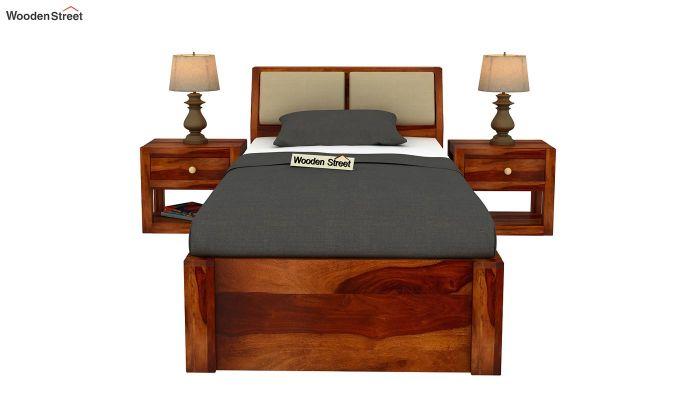 Walken Single Bed With Storage (Honey Finish)-3