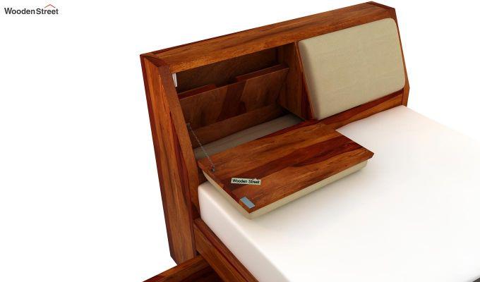Walken Single Bed With Storage (Honey Finish)-6