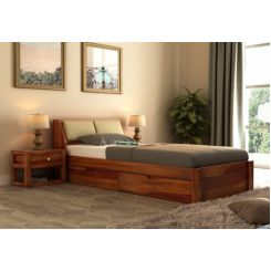 Walken Single Bed With Storage (Honey Finish)