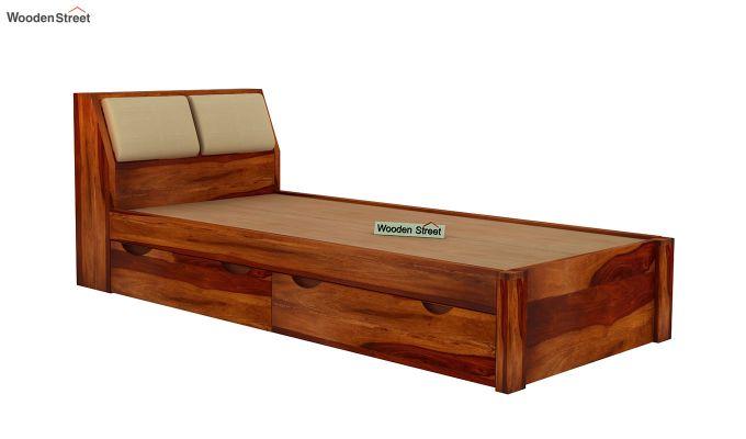 Walken Single Bed With Storage (Honey Finish)-5