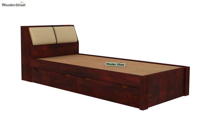 Walken Single Bed With Storage (Mahogany Finish)-4