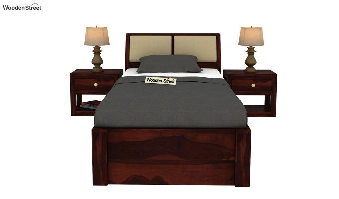 Walken Single Bed With Storage (Walnut Finish)-3