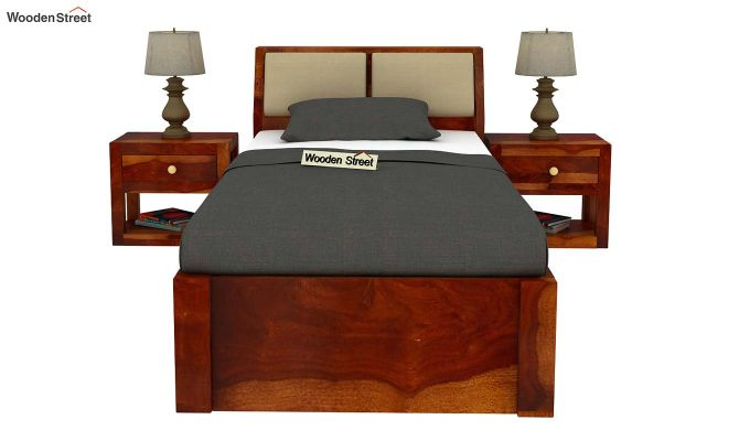 Walken Single Bed Without Storage (Honey Finish)-3