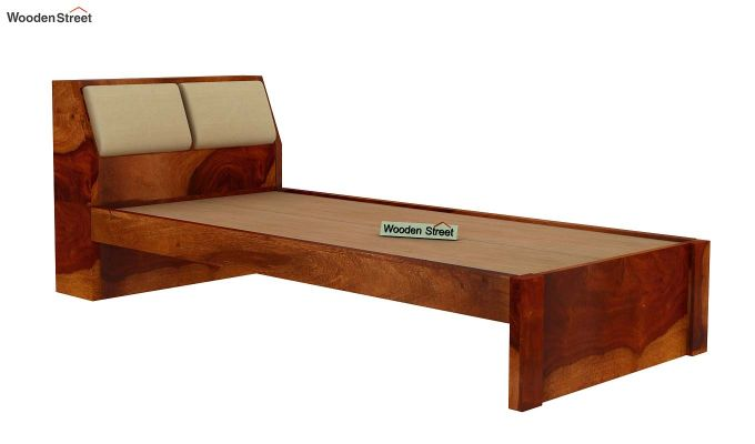 Walken Single Bed Without Storage (Honey Finish)-4