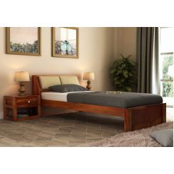 Walken Single Bed Without Storage (Honey Finish)
