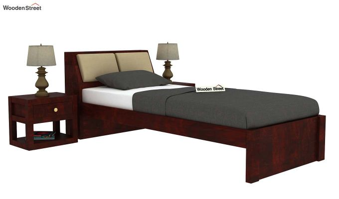 Walken Single Bed Without Storage (Mahogany Finish)-2
