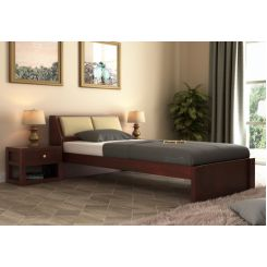 Walken Single Bed Without Storage (Mahogany Finish)