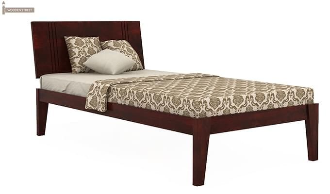 Walton Single Bed (Mahogany Finish)-1