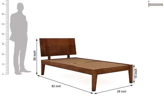 Walton Single Bed (Teak Finish)-5
